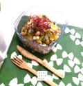 Schiscetta – Insalata di cous cous con kiwi, zola e germogli di barbabietola