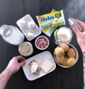 Baby Schiscetta  Mini Soufflé di patate prosciutto cotto e Formaggino MIO